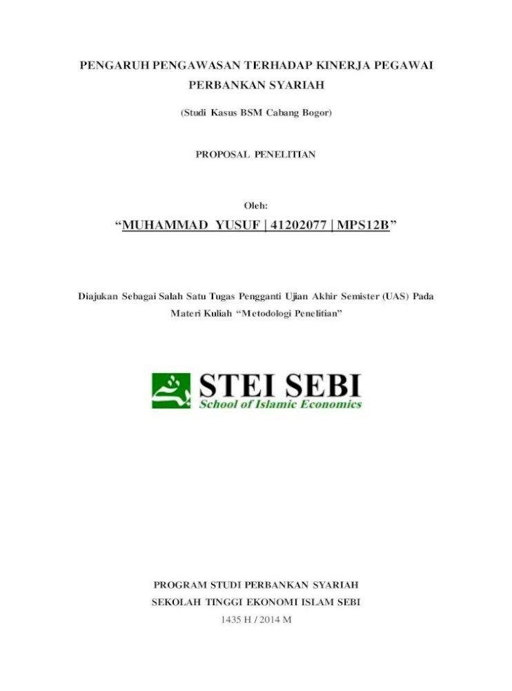 Contoh Proposal Skripsi Pdf Document