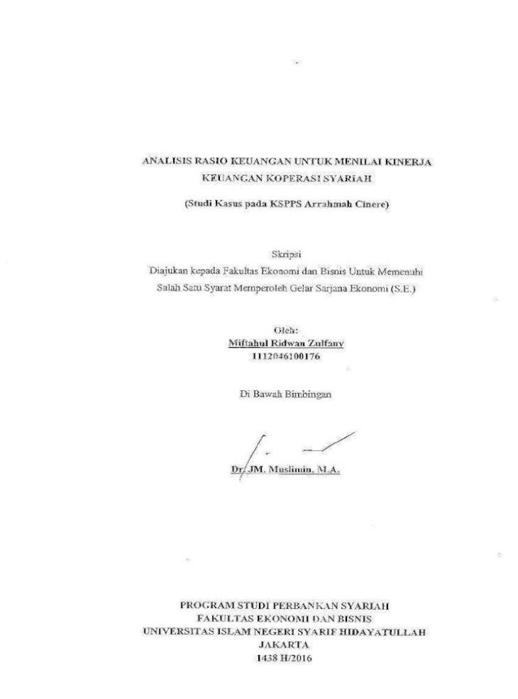 Analisis Rasio Keuangan Untuk Menilai N O 06 Per M Kukm V 2006 Tentang Pedoman Penilaian Koperasi Berprestasi Tujuan G Teknik Penulisan Skripsi C Analisis Rasio Keuangan Pdf Document