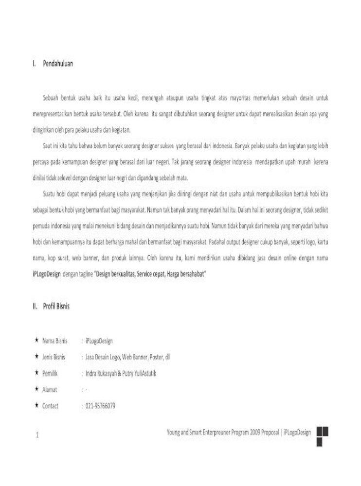 Contoh Proposal Bisnis Plan Pdf Document