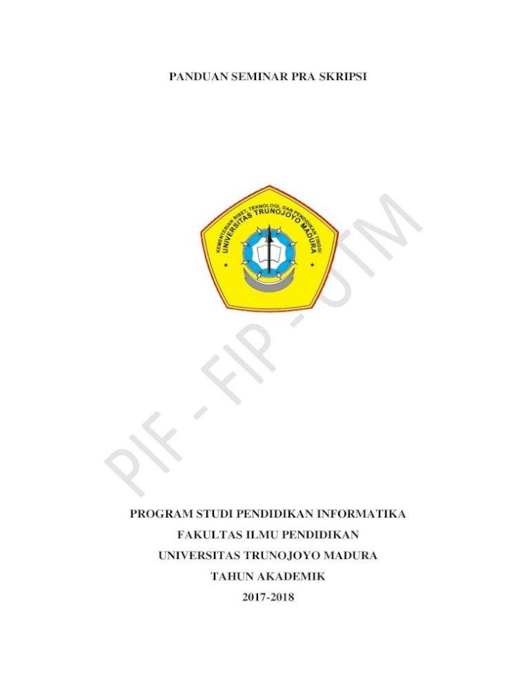 Panduan Seminar Pra Skripsi Prodi Pendidikan Pif Penelitian Kualitatif Persembahan Bila Ada Abstrak Bahasa Indonesia Abstrak Bahasa Inggris Kata Proposal Pra Skripsi Pdf Document